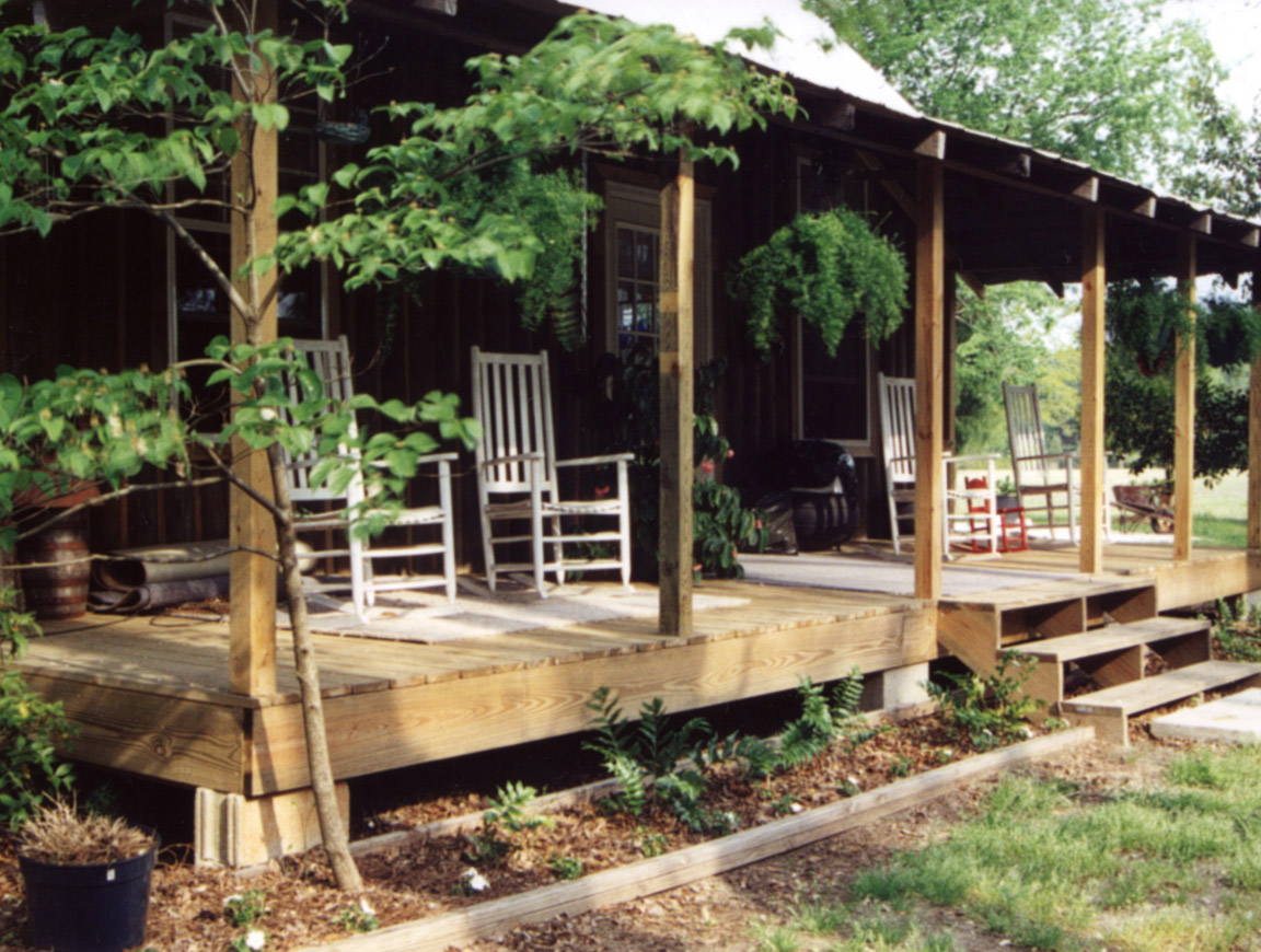 Log cabin porch sumter south carolina